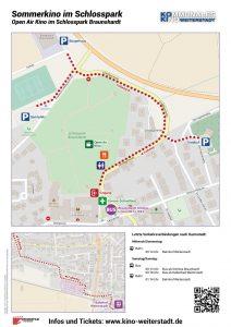 Plan des Sommerkino im Schlosspark